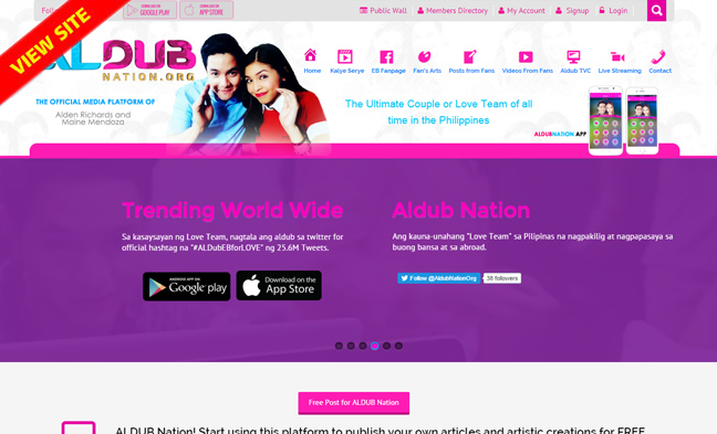 Fan site of Maine Mendoza and Alden Richards