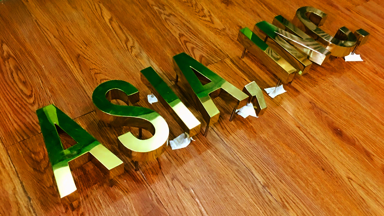 Brass Build-up Sign Maker Philippines