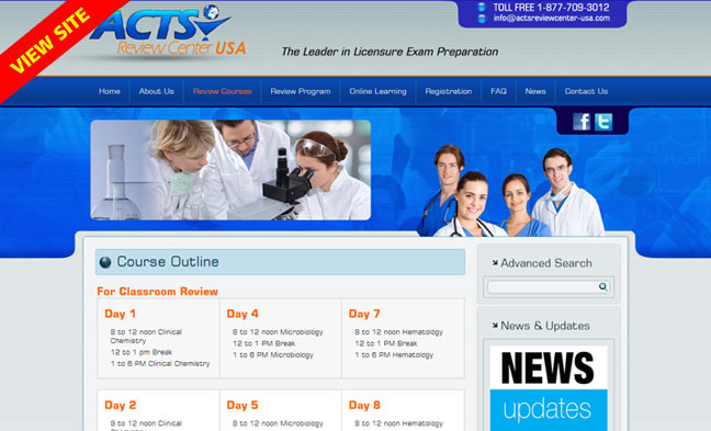 acts review center usa