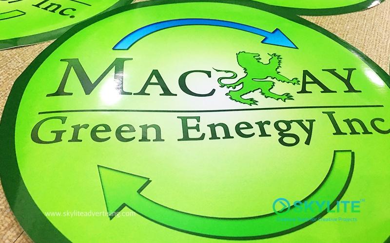 Outdoor vinyl sticker for mackay energy trucks