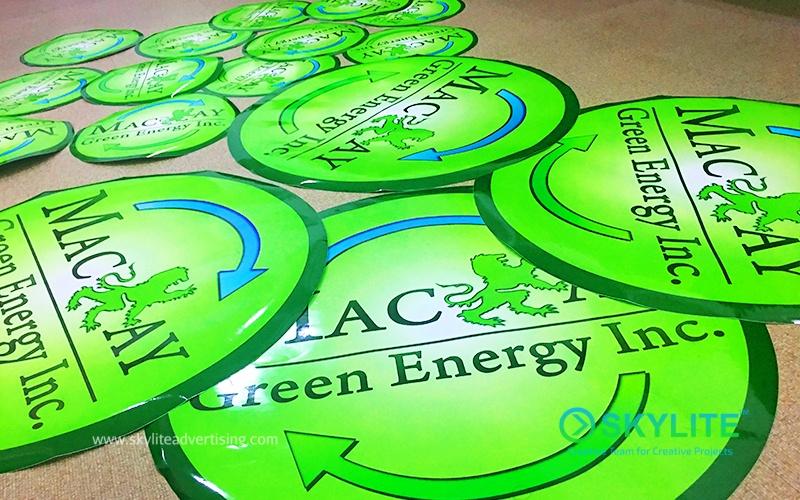 Outdoor vinyl sticker for mackay energy