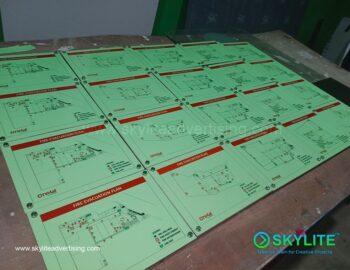 Evacuation Plan Printing Services