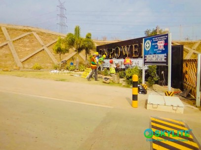 Construction of GN Power Stainless Sign at Mariveles, Bataan