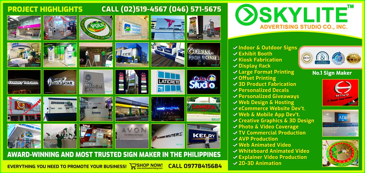 Sign Maker Philippines | Signage and Exhibit Booth Maker Fabricator